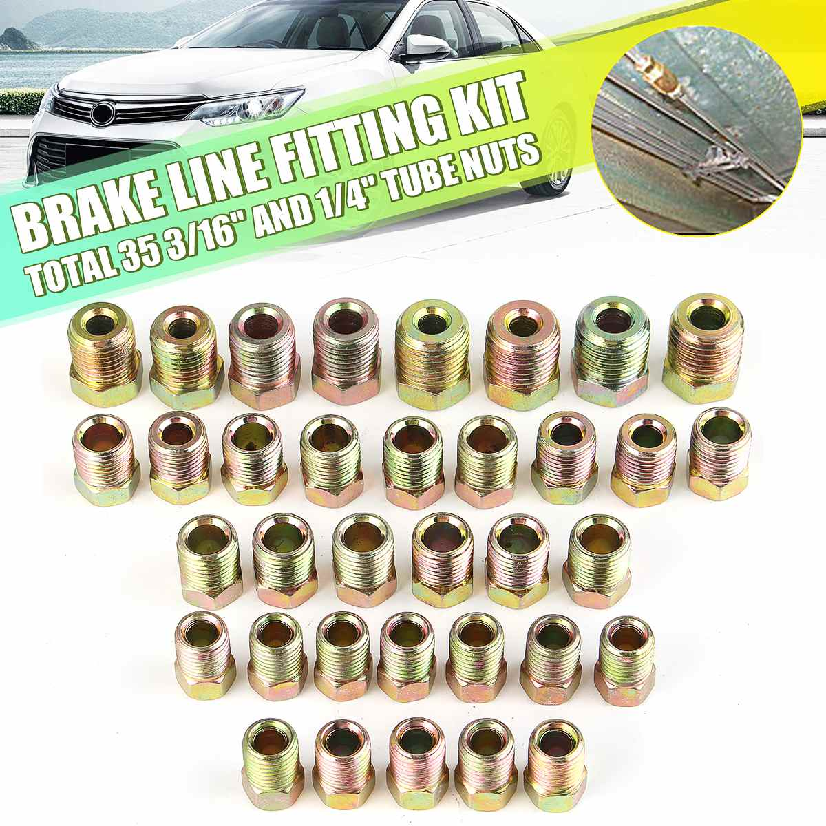 35PCS For Inverted Flare 3/16'' OD And 1/4