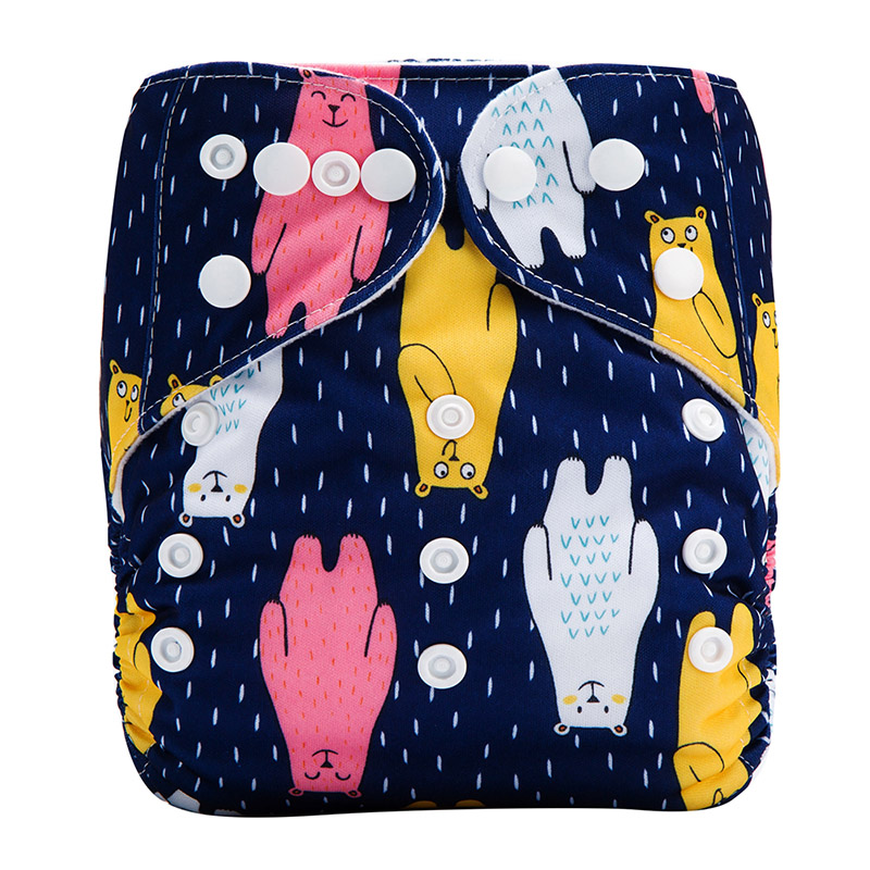 Baby Washable Diapers China Wholesale Eco Reusable Diaper Nappy For Girl All In One For Washable Sex Baby Nappy L33