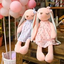 35/45/55cm Long Ears Cute Rabbit Doll Baby Cartoon Plush Soft Stuffed Animal Toys for Easter Day Children Bunny Birthday Gift