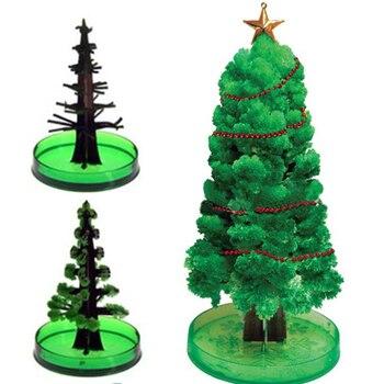 Juguete de la ciencia del árbol de Navidad de crecimiento mágico decoración de papel de cristal divertido decoración de la Mesa del hogar de Navidad juguetes de estudio para niños