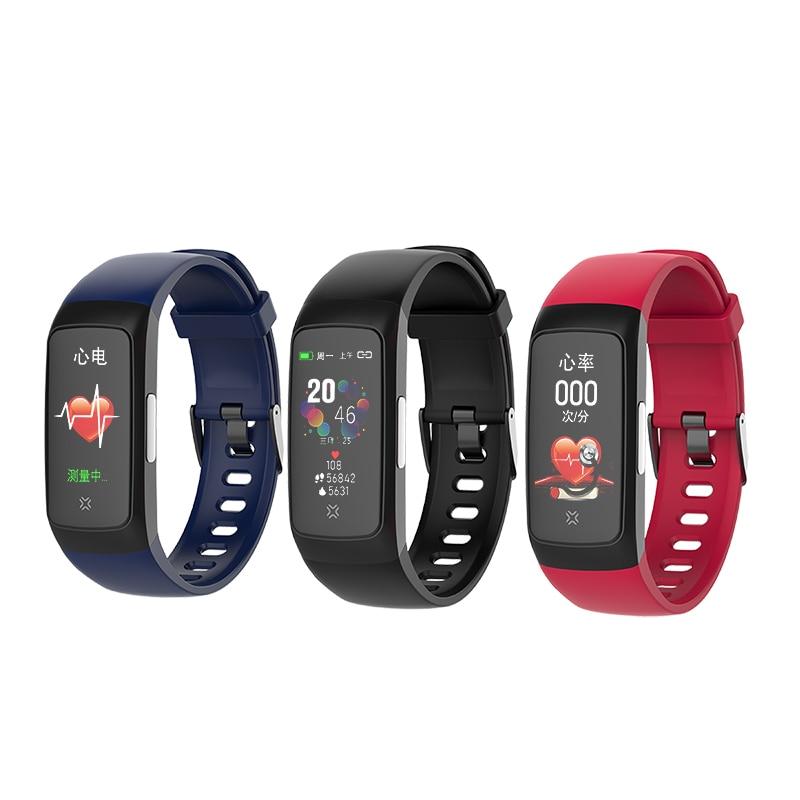Smart Watch Fitness Tracker Men Women Wearable Devices Smart Band Heart Rate Monitor ECG Detection Smart Bracelet
