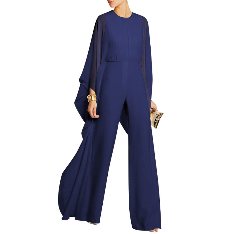 Chiffon Jumpsuits Ladies Elegant High Waist Wide Leg Fashion Rompers Female Party Jumpsuits Casual Streetwear Women Irregular in Jumpsuits from Women 39 s Clothing