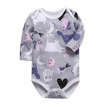 Комбинезон детская одежда с длинными рукавами для новорожденных от 3 до 24 месяцев, хлопок, одежда для маленьких мальчиков и девочек
