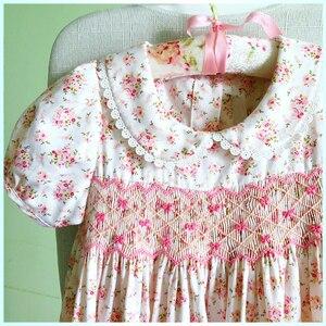 Image 5 - สาวเล็กๆน้อยๆ summer2020 เด็กสาว smocked ชุดสำหรับงานแต่งงาน Elegant Smocking ชุดเดรสสำหรับสาว sukienki