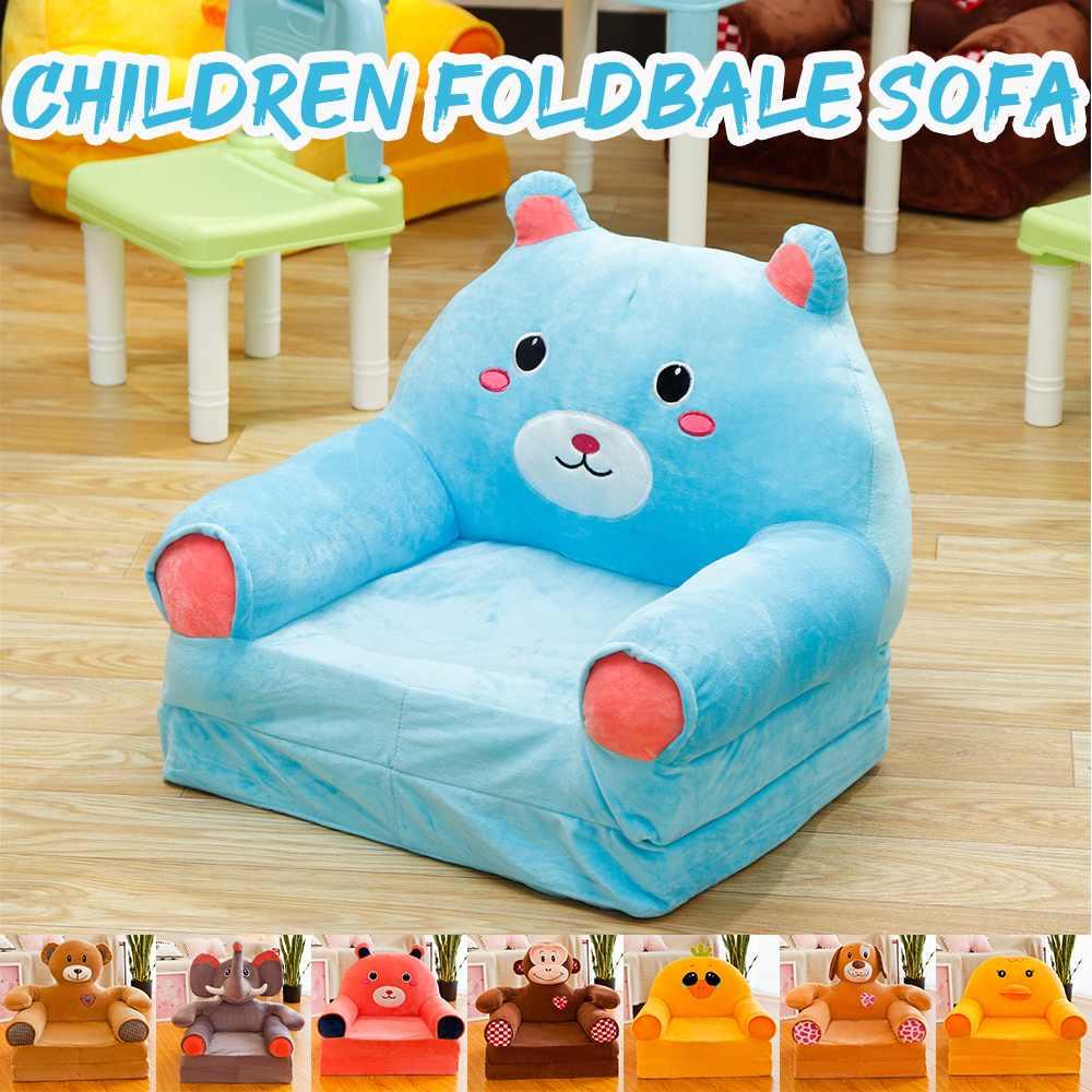 Multi-colored Cute Cartoon Animal Stuffed Plush Children's Sofa Tatami Chairs Baby Child Toy Sofa Cushion Birthday Gift For Kids