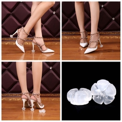 5 Pair/Lot High Heel Protectors High Heeler Stiletto Shoe Heel Saver Antislip Silicone Heel Stoppers for Bridal Wedding Party