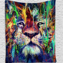 Bohemian Lion Tapestry Wall Hanging Boho Decor Psychedelic Wall Cloth Tapestry Hippie Mandala Wall Tapestry Carpet Yoga Mat Dorm psychedelic brick dorm decor wall hanging tapestry