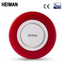 Heiman z-wave sirene alarme flash strobe luz zwave som alto-falante 95db para onda z sistema de assaltante segurança em casa inteligente
