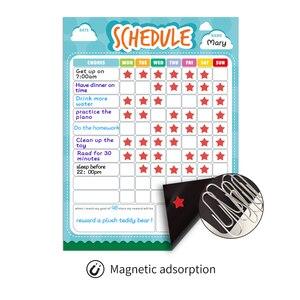 Image 4 - Pizarra blanca extraíble para nevera planificador semanal, pizarra magnética para limpiar en seco, calendario, tabla de recompensas para niños, papelería escolar para el hogar