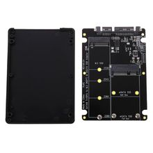 цена на 2 In 1 NGFF M.2 B+M Key Mini PCI-E or mSATA SSD to SATA III Adapter Card for Full Msata SSD/ 2230/2242/2260/22x80