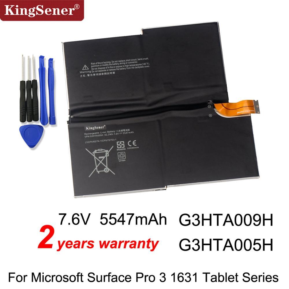 Kingsener G3HTA009H G3HTA005H MS011301-PLP22T02 Laptop Battery For MICROSOFT SURFACE PRO 3 1631 Tablet PC 1577-9700 7.6V 42.2WH