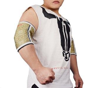 Image 2 - ROEGADYN Men Muscle 5mm neoprenowy ochraniacz na łokieć rękaw wsparcie dla podnoszenia ciężarów orteza stawu łokciowego, siłownia Power Support