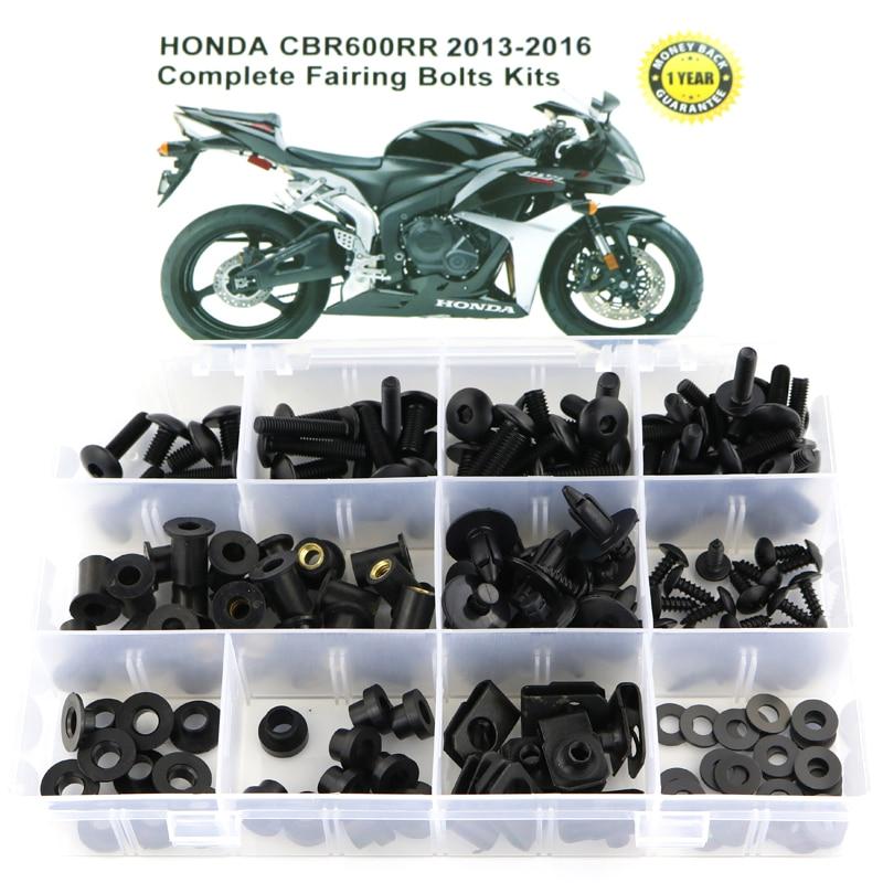 For Honda CBR600RR CBR 600RR 2013-2016 Motorcycle Cmplete Full Fairing Bolts Kit Fairing Clips Bodywork Screws