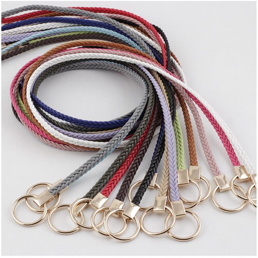 2020 New Women's Knitted Thin Belt Korean Version Of The Wild Dress Sweater Decorative Belt