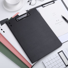 A4 Paper Clipboard Folder Storage Writing Pad Board Clamp Book Clip Pad Folding File Clipboard Office Stationery School Supplies