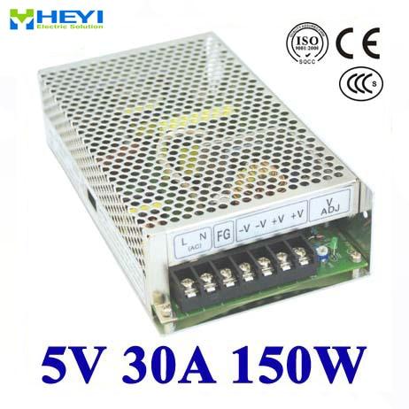 Fuente de alimentación conmutada de salida única 5V 30A 100 ~ 120V/200 ~ 240V AC Fuente de alimentación LED 150W 5V transformador
