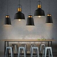 Lampa wisząca w stylu industrialnym retro osobowość twórcza cafe bar restauracja pojedynczy klosz żyrandol YHJ122602 w Wiszące lampki od Lampy i oświetlenie na