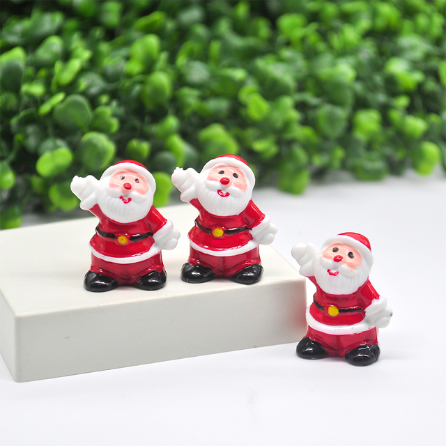 2020 Miniature Christmas Tree Santa Snowman Decoration Gift Miniature Garden Fairy Tale Character Home Table Decoration 5