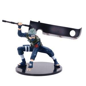 Image 3 - Anime naruto hatake kakashi nirvana trovão pvc figura de ação sasuke coleção modelo decoração de mesa 16cm
