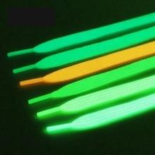 1 Pair Luminous Shoelaces Flats Shoes laces Flash Party Glowing Shoelace Child Adult Unisex Fluorescent Shoe lace 6 Colors