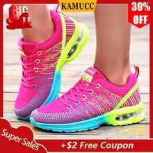 Женские кроссовки; женская повседневная обувь; Модные дышащие прогулочные сетчатые кроссовки на плоской подошве; женские спортивные кроссовки; вулканизированные tenis feminino