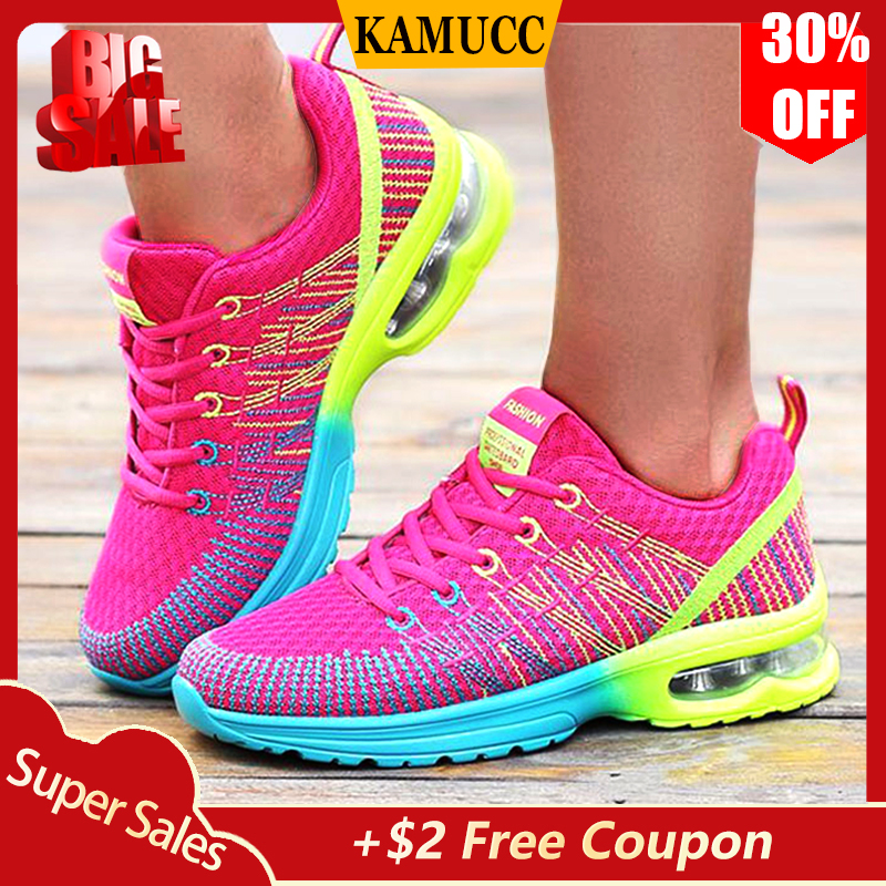 Ladies Sneakers Women Casual Shoes Fashion Breathable Walking Mesh Flat Shoes Sneakers Women 2019 Gym Vulcanized Tenis Feminino