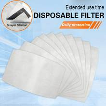 15pcs/Lot Disposable Filter Pad For Face Mouth Mask Respirator PM2.5 Dust Mask Filter For N95 KN95 KF94 FFP3 2 1 Protective Mask(China)