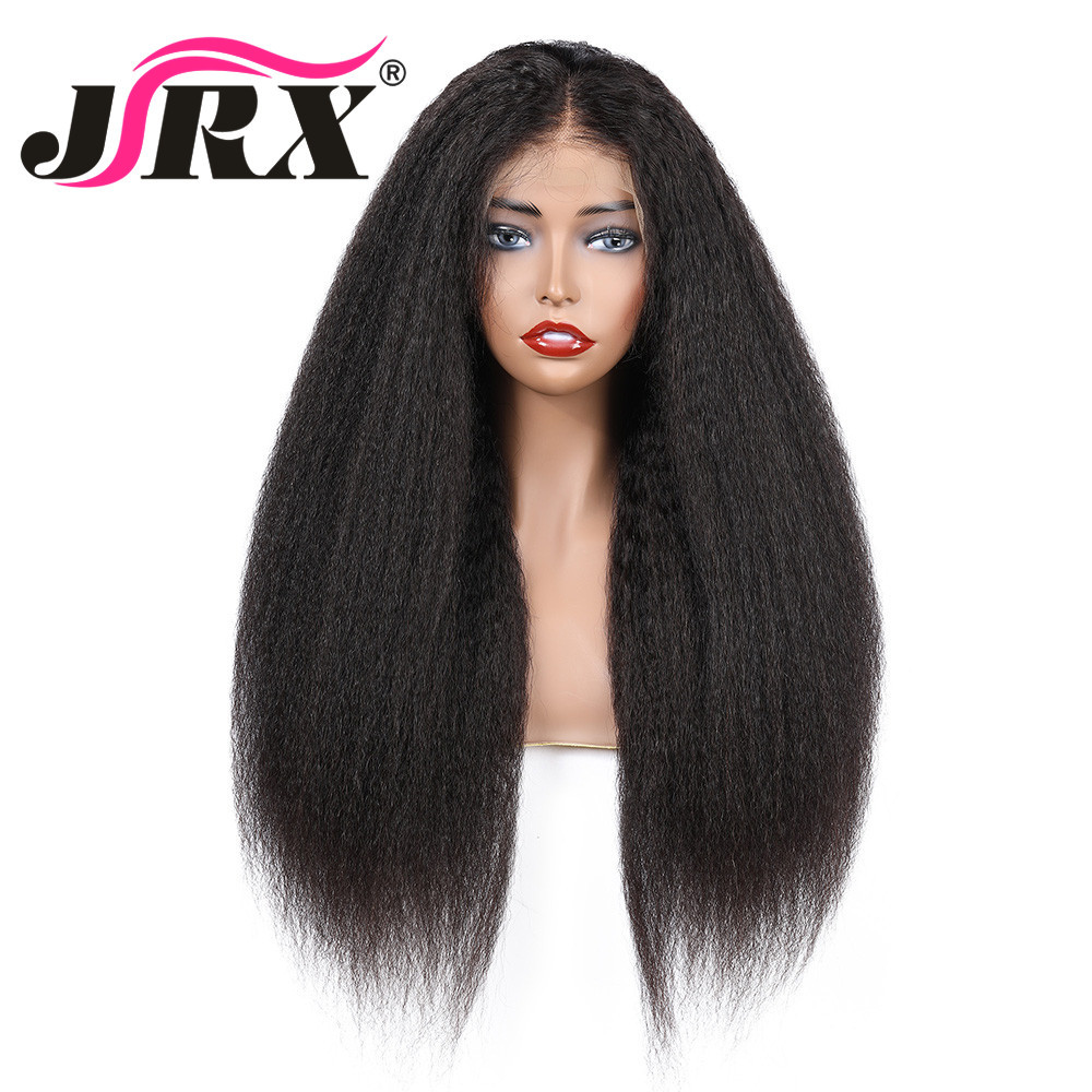 Wigs Human-Hair-Wigs Black-Women Full-Lace Brazilian Straight for Pre-Plucked Kinky Natural-Color title=