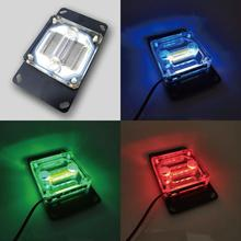 acrylic top with rgb light  CPU water cooling block 0.4MM microcutting copper nickeled for AMD Ryzen,  intel