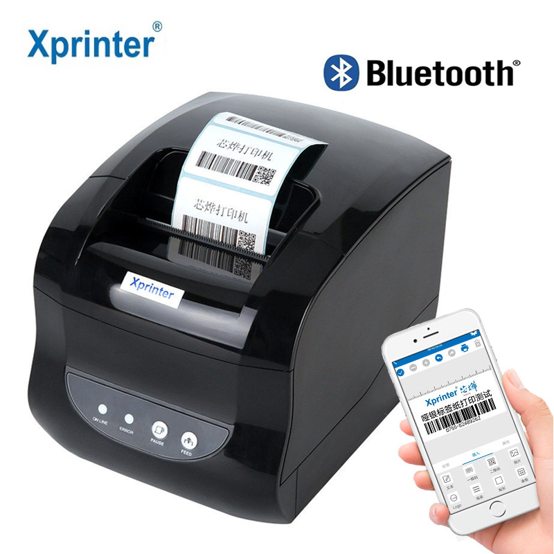 Xprinter Label Barcode Printer Thermal Receipt Printer 20mm-80mm Adhesive Sticker Paper For Mobile Phone Windows