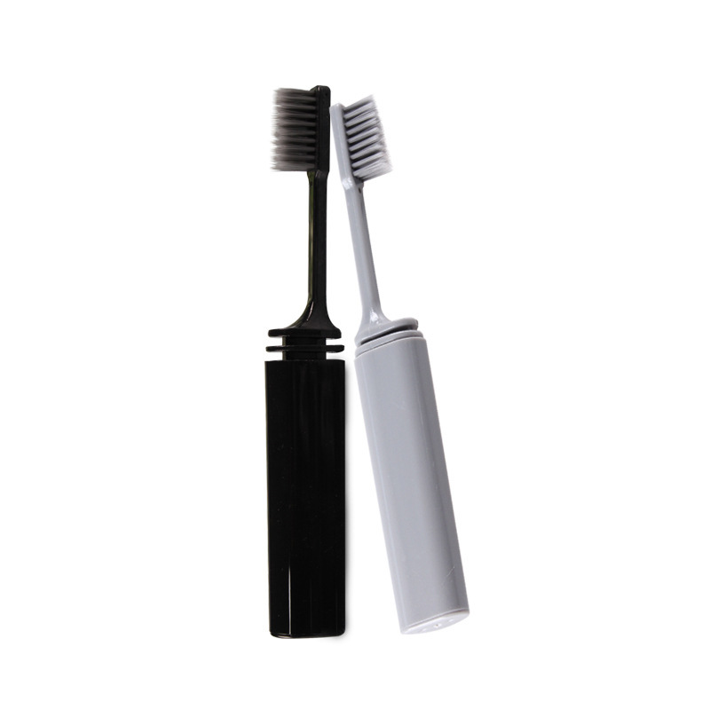 1 Pcs Folding Charcoal Soft Toothbrush Dental Care Toothbrush Brush Oral Care Teeth Whitening Low-carbon Eco-friendly For Adults image