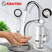 KBAYBO Electric Kitchen Water Heater Tap 3000WInstant Hot Water Faucet Heater Heating Faucet Tankless Instantaneous Water Heater