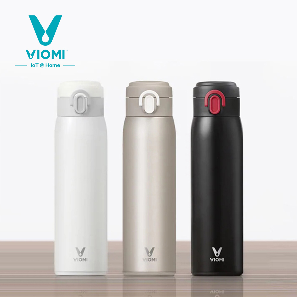 Xiaomi VIOMI Thermos Vacuum Portable Bottle Cup 24 Hours Flask Water Detachable Cup Lid For Easy Cleaning Single Hand ON/Close