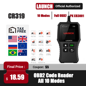 Launch CR319 OBD2 Scanner obdii Fault Car Code Reader Creader 319 Automotive Full OBDII Function Auto Diagnostic Tool PK CR6001