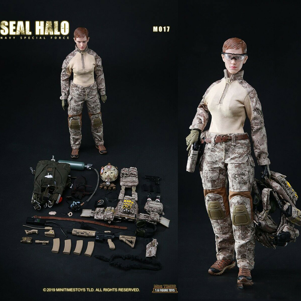 mini times toys 1//6 Female SEAL HALO Navy Special Force Training Soldier Figure