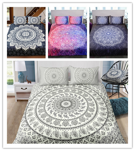3D Bohemian Home Textile Bedding Sets  Colorful Mandala Meaning Comfortable Soft For Boys And Girls Two Or Three Piece Suits