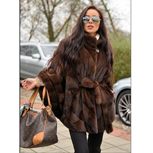 FURSARCAR 2019 New Women Real Mink Fur Coats Whole Skin Thick Warm Jacket For Female Long Style Luxury Nature Coat