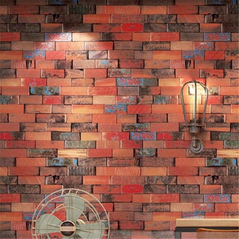Wellyu rétro nostalgique 3D stéréo papier peint planche graffiti rue personnalité chambre hip hop restaurant fond d'écran