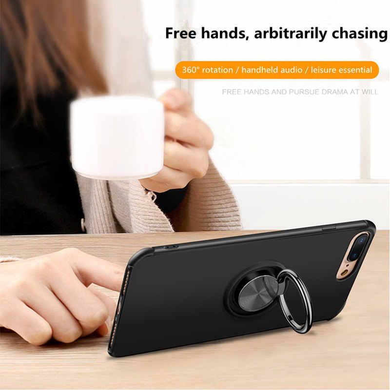 ケースのための samsung S9 S10 スタンドホルダー車リング電話カバーのための samsung note 9 s9/s10 プラス s10 lite 磁気カーホルダー裏表紙