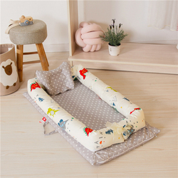 Baby Bed Foldable Baby Crib Newborn Sleep Bed Travel Bed High Quality 3PCS/Set Co-Sleeping Cribs Toddler Beds
