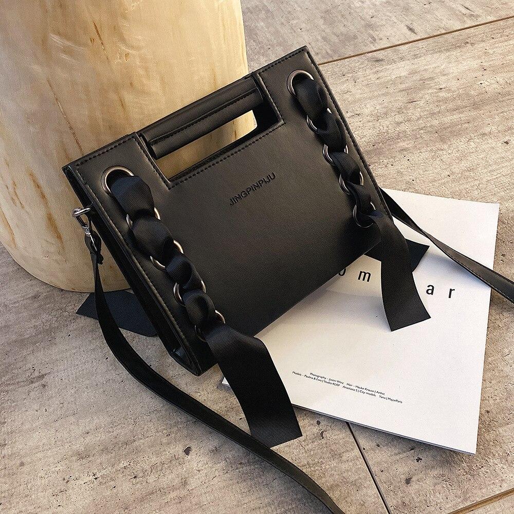 Модная Сумка женская универсальная сумка через плечо/сумка через плечо модная сумка на квадратном ремешке с цепочкой сумка с заклепками|Сумки с ручками|   | АлиЭкспресс - Аналоги сумок с показов мод осень-зима 2020/21