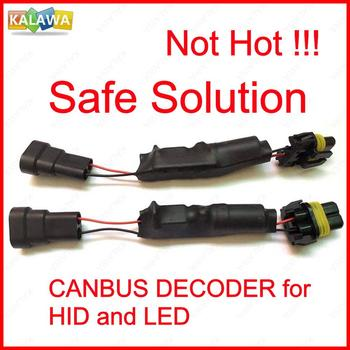 HID LED Headlight Canbus Decoder Warning Canceller Adapter Flicker Error Free Not Resistor 9005 9006 9012 H1 H11 H7 H4 H8 H9 H11 new generation all in one high beam error free 9005 hid lights for madza 3