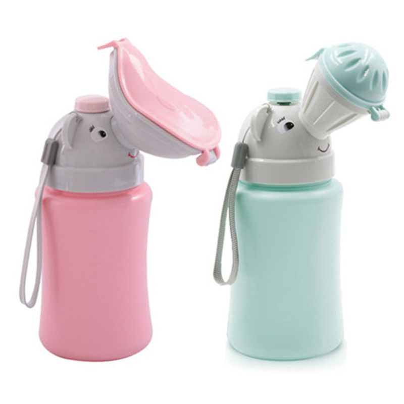 500ML Baby Portable Urinal Toilet Boy Girl Cars Travel Supplies Potty Training 72XC