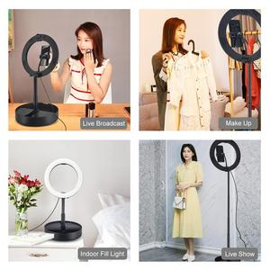 Image 5 - LANBEIKA 10 Inch 26cm USB 3 Mode LED Selfie Ring light Photography Vlogging Video Light Foldable Stand Tripod & Desktop Holder