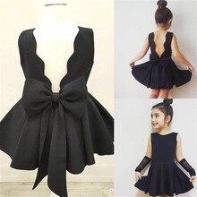 цена на 2020 New Wedding Blackless Baby Girl Clothes Kids Dresses For Girls Toddler Girl Dresses Summer Dress Princess Dress Girls Dress