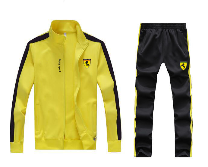 Men Full Outdoor Gym TrackSuit Sport Sweats Jacket Coat Bottom Top Suit Trousers Pants Track Suit Outfit 6 Colors