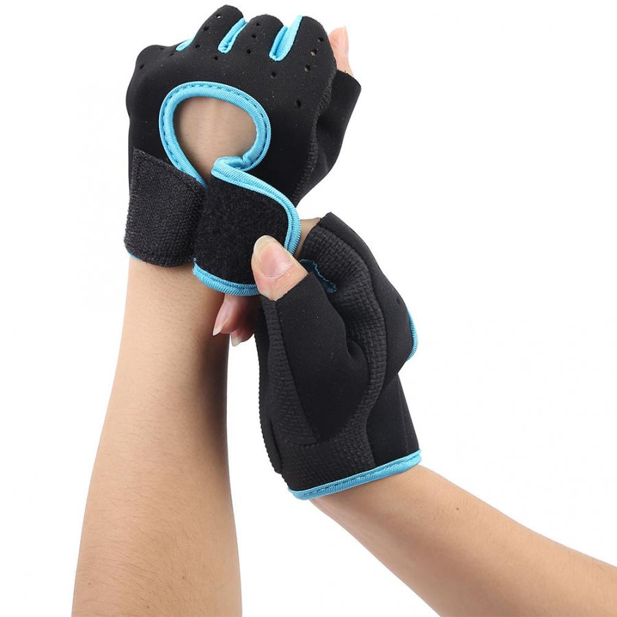 Unisex Half Finger Sports Gloves Gym Pull Up Weightlifting Hand Protector Guard