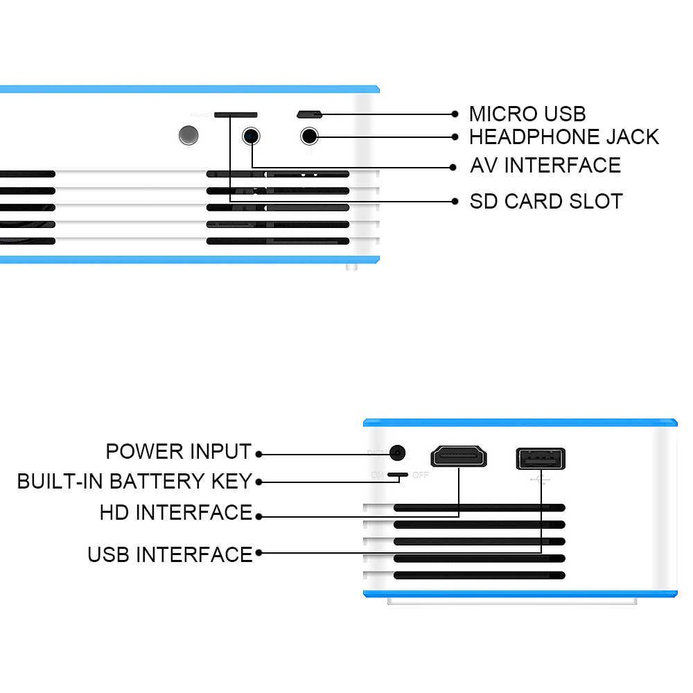 LED ミニプロジェクターポータブルフル Hd 3D プロジェクター 7000 ルーメン TFT 液晶ホームシアターエンターテイメントプロジェクターマルチメディア
