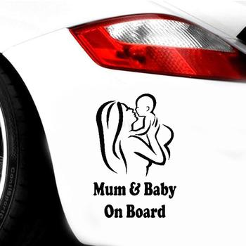 Mum Baby on Board Car Vehicle Body Window Reflective Decals Sticker Decoration Automobiles Decal Car styling 1