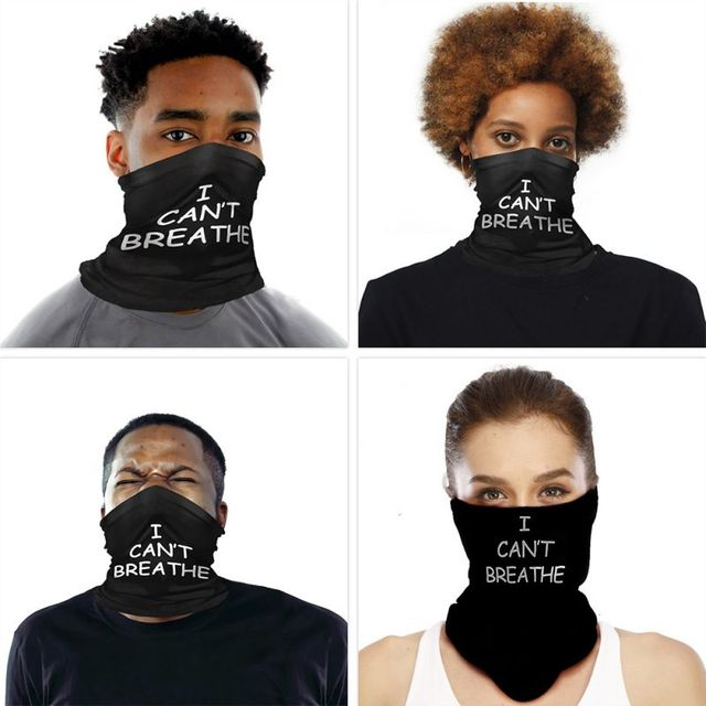I CAN  'T BREATHE Protective Mask Riding Mask Multi-function Magic Head Scarf Scarf Bal 5